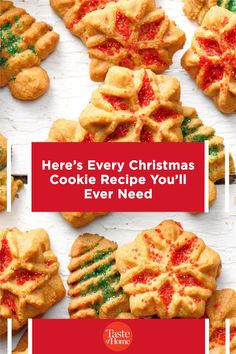 Here's Every Christmas Cookie Recipe You'll Ever Need Christmas Cookies, Cookie Recipes, Waffles, Breakfast, Holiday, Food, Xmas Cookies, Recipes For Biscuits, Morning Coffee