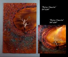 """""""Scion Hearts"""" : Dave Rizzo Studios : Bronze Copper Sculptures : www.daverizzostudios.com"""