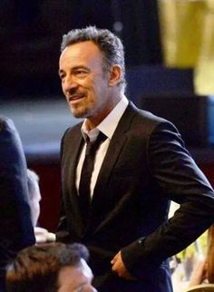 """Dapper Springsteen.  I don't usually find """"suits"""" attractive, but, Damn,  this one sure is being worn mighty fine."""
