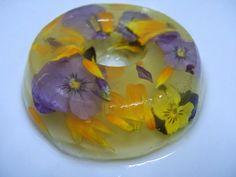 Guia de jardin: Gelatina de piña con flores