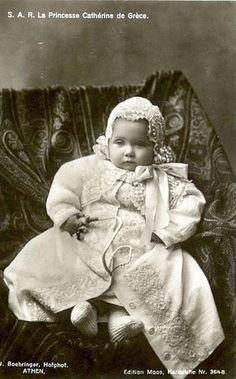 Greece Royalty S. La Princesse Catherine de Grece Original Old postcard Victoria Reign, Queen Victoria, Queen Sophia, Greek Royalty, Greek Royal Family, Princess Katherine, Young Prince, Casa Real, King Queen