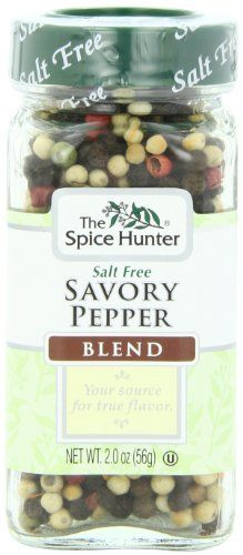 The Spice Hunter Peppercorns, Savory Blend, Whole, 2-Ounce Jar - http://spicegrinder.biz/the-spice-hunter-peppercorns-savory-blend-whole-2-ounce-jar/