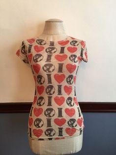 M Forever Sheer Women's Juniors Tshirt Short Sleeve Fitted Heart Earth  #Forever #Tshirt