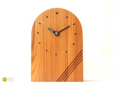 danish modern desk shelf clock mid century scandinavian wood mcm 70s