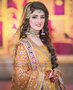Image may contain: 1 person, standing Pakistani Bridal Hairstyles, Pakistani Bridal Makeup, Pakistani Wedding Outfits, Bridal Outfits, Bridal Makup, Bridal Lehenga, Pakistani Mehndi Dress, Bridal Mehndi Dresses, Bridal Dress Design