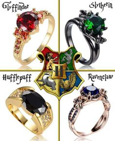 Slytherin & Ravenclaw& are gorgeous! Anel Harry Potter, Mode Harry Potter, Estilo Harry Potter, Harry Potter Merchandise, Harry Potter Jewelry, Harry Potter Style, Harry Potter Outfits, Harry Potter Fandom, Harry Potter Memes