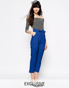 The WhitePepper Belted Linen Trouser