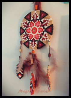 Collection Attrape-Rêves Ethnique  - Dreamcatcher hama beads by Magic-perles