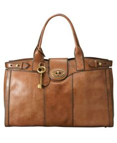 Fossil Handbag, Vintage Reissue Weekender - Handbags & Accessories - Macy's  I love this bag!!!