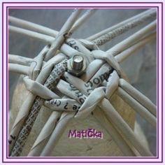 -Popis pletený zvoneček - Tvoříme-Marťuliny stránky Weaving Designs, Weaving Art, Clothes Hanger, Diy, Journaling, Paper Envelopes, Xmas, Bricolage, Paper