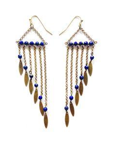 BO pendantes bronze Lapis Lazuli via AMAbijoux. Click on the image to see more!