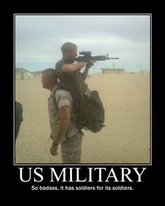 US Military: So badass, it has soldiers for its soldiers. Haha. #CharlieMike