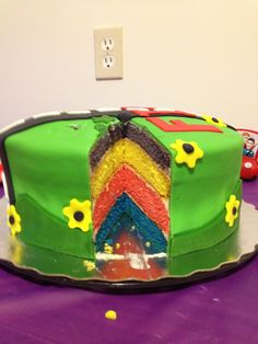 Finns wiggle cake Wiggles Birthday, Wiggles Party, 3rd Birthday, Wiggles Cake, The Wiggles, Nyx, First Birthdays, Cake Decorating, Twins