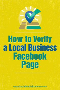 Verifying a local business page adds a layer of le…