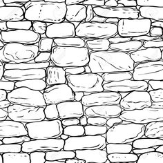 Vector Hand-drawn Texture Of Brick Wall Or Sett (paving). Royalty Free Cliparts, Vectors, And Stock Illustration. Texture Sketch, Pencil Texture, Texture Drawing, Texture Art, Brick Wall Drawing, Drawing Rocks, Line Drawing, Draw Bricks, Castle Drawing