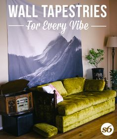 Wall tapestries for every vibe. Available in three distinct sizes, our Wall Tapestries are made of lightweight polyester with hand-sewn finished edges. Featuring vivid colors and crisp lines, these highly unique and versatile tapestries are durable en My New Room, My Room, Wall Tapestries, Tapestry, Dorm Life, College Dorm Rooms, Loft, Dorm Decorations, Apartment Living