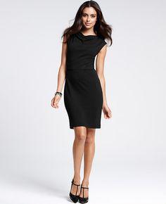 Drape Neck Nouvelle Sheath Dress