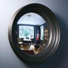 Love convex mirrors as wall art!