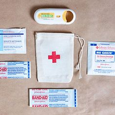 These mini stenciled first aid kits by Armelle are a cute (and useful!) idea for your purse.
