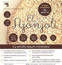 El ajonjolí es una semilla rica en minerales por lo cual es aconsejable para mujeres en estado de embarazo. @SalubritasClini www.salubritasclinica.wordpress.com www.salubritasclinica.wix.com