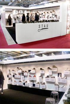 Stand fieristico di Stau, un progetto #effADV - Stau #boothdesign, effADV project #stand #booth #shoes