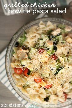 Grilled Chicken Bow Tie Pasta Salad