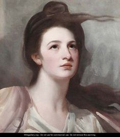 Portrait of a lady, possibly Emma Hart, later Lady Hamilton, bust-length - George Romney