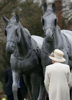 Queen Elizabeth II attends the Windsor Greys Statue unveiling - March 31, 2014