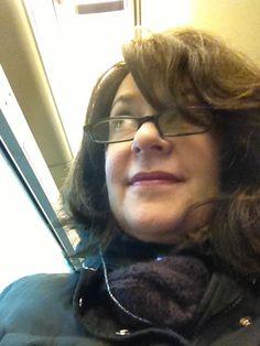 Melinda on the train...