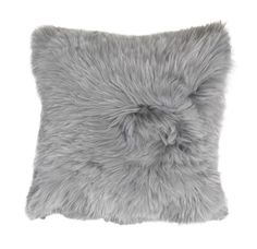 "ALPACA 20"" SQUARE SILVER PILLOW<BR>[available online and in stores]"
