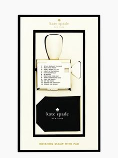 Kate Spade -- rotating stamp with pad no longer available but wish it was!