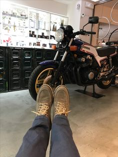 Shoes and bike