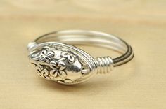 Flower Ring Sterling Silver Filled Wire Wrapped by SimplyCharmed21