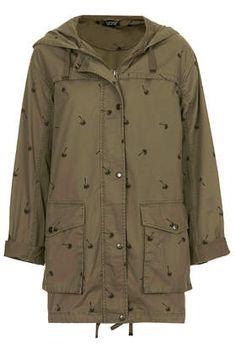 935e9a37961a Palm Print Parka Jacket from Topshop