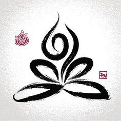 Lotus meditation tattoo
