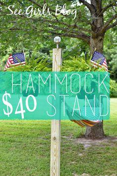 $40 Hammock Stand