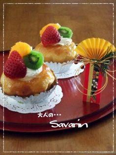 成人の日に・・ちょっと大人のサバラン☆ Savarin, Waffles, Breakfast, Recipes, Food, Morning Coffee, Meal, Food Recipes, Essen