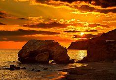 """Tertsa sunset - Southern Crete"" by Hercules Milas | Redbubble Sunrises, Crete, Hercules, Long Hoodie, Travel Bags, Decorative Throw Pillows, Southern, Beach, Outdoor"