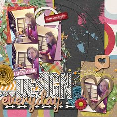 Page by Miss Mint | Miso Lucky Digi Kit from Peppermint Creative