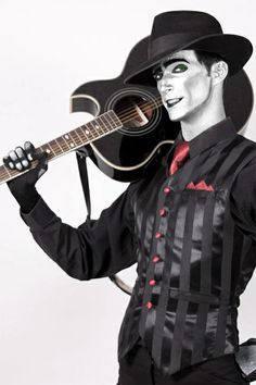 The Spine From Steam Powered Giraffe! We have metallic makeup that is perfect for creating this look!