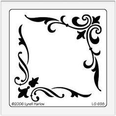 Stencils, Stencil Art, Stencil Patterns, Stencil Designs, Motif Arabesque, Pewter Art, Wood Burning Patterns, Scroll Saw Patterns, Border Design