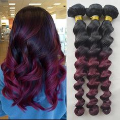 Find More Hair Weaves Information about Ombre Peruvian Loose Wave Virgin Hair 3 Pieces/lot Two Tone Burgundy Human Hair Weave Red Ombre Peruvian Virgin Hair,High Quality weave leather,China weave manufacturer Suppliers, Cheap hair straigtener from IS Bella Human Virgin Hair Products Co. on Aliexpress.com