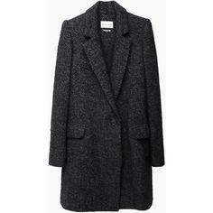 Isabel Marant Étoile Daphne Herringbone Coat (€595) ❤ liked on Polyvore featuring outerwear, coats, jackets, coats & jackets, tops, herringbone coat, slim coat, long coat, slim fit long coat and slim fit coat