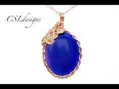 Rose covered wire wrapped cabochon - YouTube