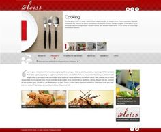 Template: a038 A neat modern web design in white and grey with red accents.  Recommended for: Furnishings, Furniture, Interior Decorators, Hotels, Restaurants, Spa and Salons, Music and Entertainment, Caterers, Food Products