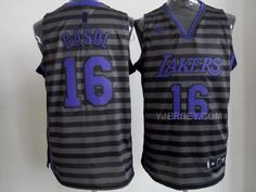 http://www.yjersey.com/nba-lakers-16-gasol-black-gride-grey-jerseys.html NBA LAKERS 16 GASOL BLACK GRIDE GREY JERSEYS Only 37.00€ , Free Shipping!