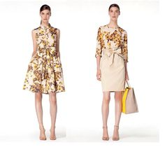 The Carolina Herrera trench dress and blouse inspired by her favorite flower, the cabbage rose. Is a spring wardrobe must