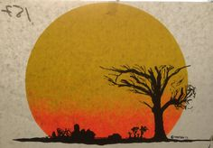 Landscape Sunset Vintage 1975 Vortex Iron On Heat by VintageIronOn