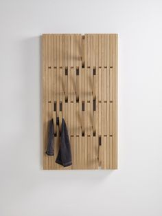 Wall-mounted oak coat rack PIANO OAK by @perusedesign design Patrick Seha