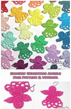 Easy Crochet Christmas Angels [Free Pattern and Tutorial]